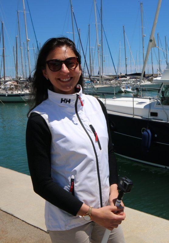 Chiara posing in the sunshine