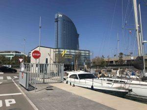 Hotel W Marina Vela Barcelona Spain marina berthing